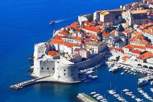 dubrovnik, croatia.top view.
