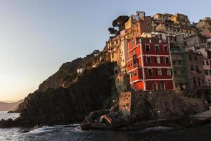 Riomaggiore in Cinque Terre in Italien foto