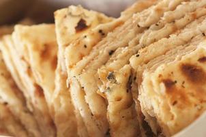 Nahaufnahmefoto des indischen Brotes mit Kreuzkümmel. foto