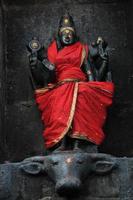 schwarzes ardhanarishwara (shiva) foto
