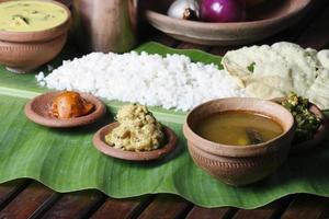 Kerala-Stil Thali foto