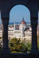 Ansicht des ungarischen Parlamentsgebäudes foto
