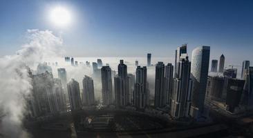 Nebel in Dubai foto