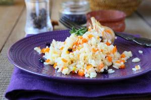 Pilaw mit Gemüse und Berberitze foto