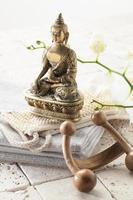Verwöhnbehandlung mit Blick auf Zen foto