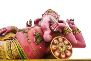 Ganesha mit weißem Hintergrund foto