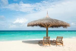 tropischer Strand, Malediven foto