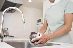 Mann Waschschüsseln foto
