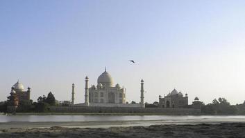 Taj Mahal Flussufer foto