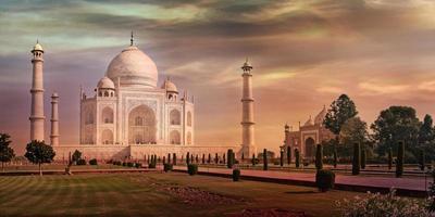 Taj Mahal in Agra, Indien foto
