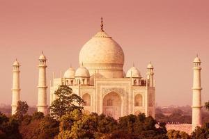 Taj Mahal aus der Ferne foto