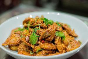 würziger saurer Fischwurstsalat foto