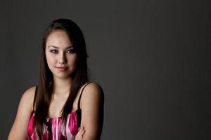 schönes junges Frauenporträt foto