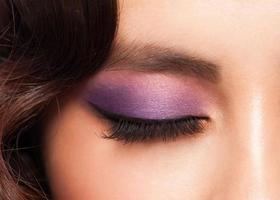 Auge mit Make-up foto