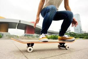 Skateboard Frau