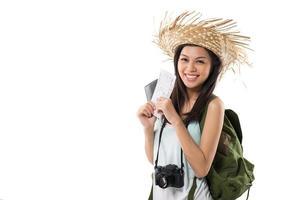 glücklicher Reisender foto
