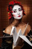Frau in traditioneller östlicher Tracht foto
