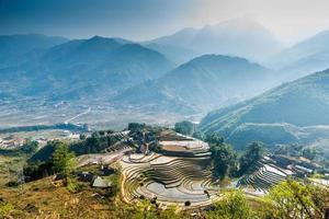 Vietnam, Sapa - Reisfelder foto