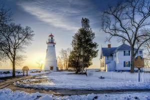 Marblehead Leuchtturm Sonnenaufgang foto