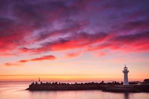 Hafen und Leuchtturm foto