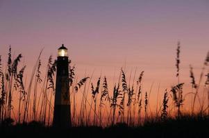 Leuchtturm in der Nacht foto