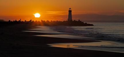 Santa Cruz Walton Leuchtturm am Morgen foto