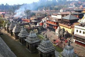heiliger Pashupatinath in Kathmandu Nepal foto