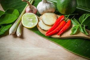Gemüse von Lebensmitteln für Tom Yum Element foto