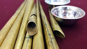 Werkzeuge zur Herstellung von Mandalasand foto