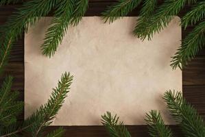 Weihnachtsweinlese-Hintergrund foto