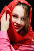 junges schönes muslimisches Mädchenporträt foto