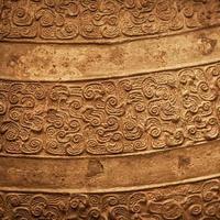 strukturierter Hintergrund der alten chinesischen Bronze foto