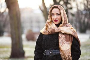 Geschäftsfrau, die Kopftuch trägt foto