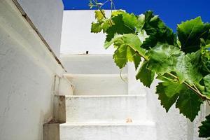außen weißes Treppenhaus
