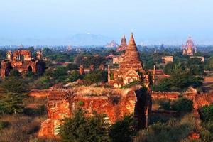 archäologische Zone von Bagan, Myanmar foto