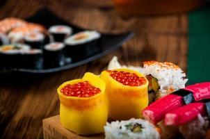 orientalisches Thema mit Sushi foto