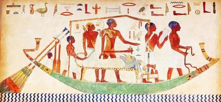 Hieroglyphen an der Wand