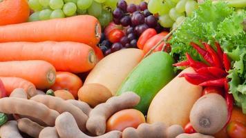 tropisches Obst und Gemüse