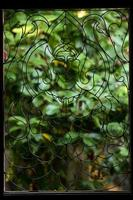 Buddha am schmiedeeisernen Fenster. foto