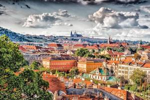 rote Dächer von Prag foto