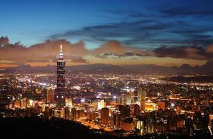 Taipei Nachtszene foto
