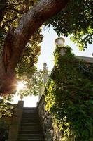 Schritte vom Garten im Vorontsov (Alupka) Palast foto