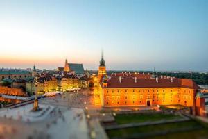 Draufsicht auf die Altstadt in Warschau foto