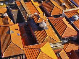 rote Dächer von Porto foto