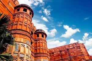Äußeres von Agra Fort, Indien foto
