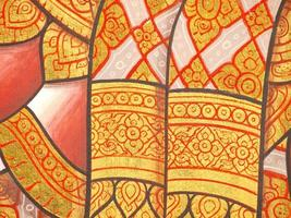 Wandkunstmalerei im Tempel Thailand foto