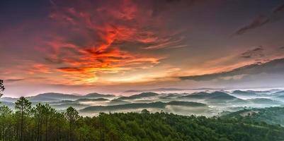 Plateau durchschnittliche Momente Trai Mat, Lam Dong