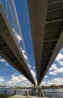 Schrägseilbrücke von unten foto