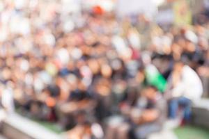abstrakter unscharfer Hintergrund von Menschenmengen in B-Boy Breakdances foto