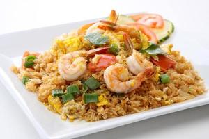 Thai Food Shrimps gebratener Reis